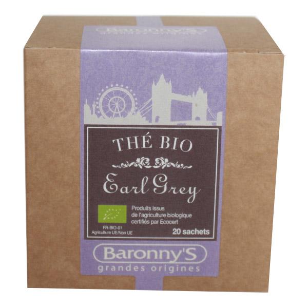 Baronny's thé earl grey BIO 20 sachets