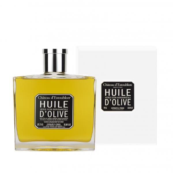 huile olive vierge flacon couture Chateau d'Estoublon