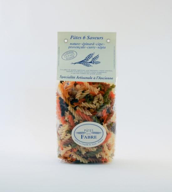 Pates Fabre Torsade 6 saveurs 250g