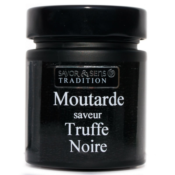 moutard pot saveur truffe noire savor & sens