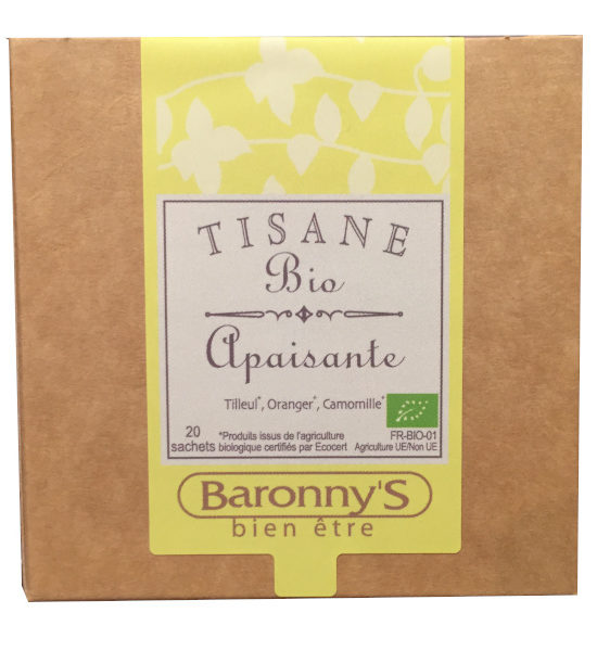 Baronny's tisane apaisante BIO 20 sachets