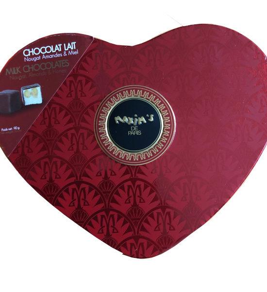 Coeur Rouge Chocolat au Lait Maxim's 90g