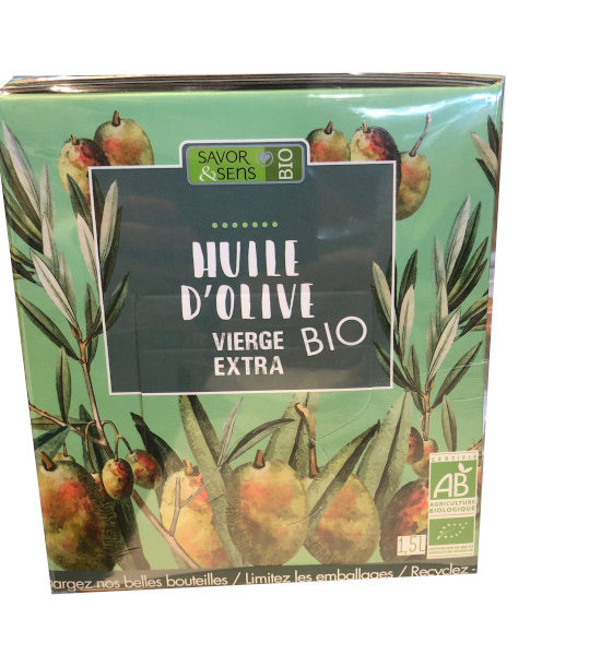 Cubis Huile d'Olive Vierge Extra BIO 1,5 Litres