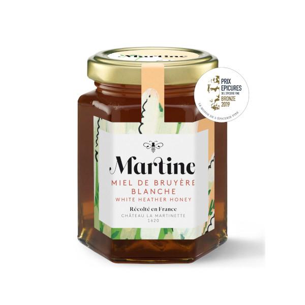 Miel Martine bruyère Blanche pot de 250g