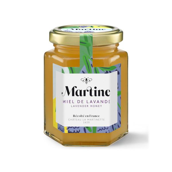 Miel Martine à la lavande pot de 250g