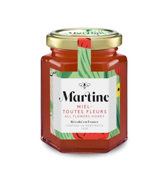 Miel Martine toutes Fleurs pot de 250g