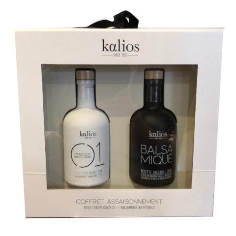 Coffret assaisonnement Huile et Vincaigre de Kalios 2 x 250 ml
