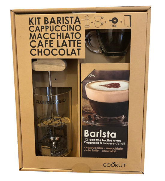 kit barista mousseur à lait de Cookut
