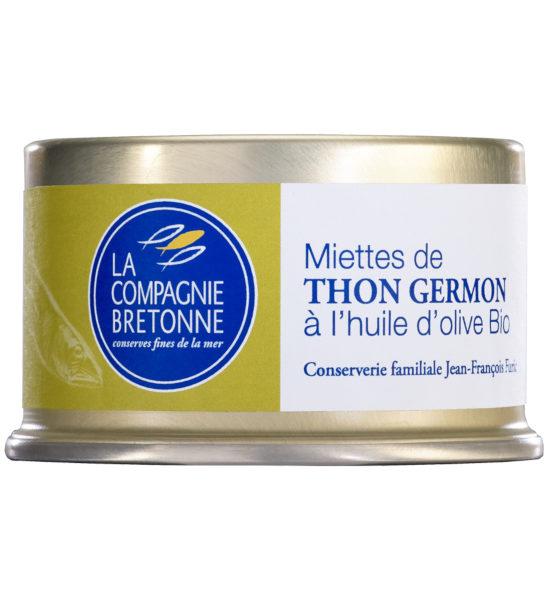 Miettes Thon Germon Huile Olive BIO