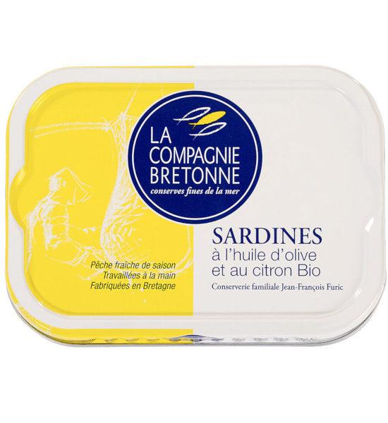 Sardine huile olive et citron BIO