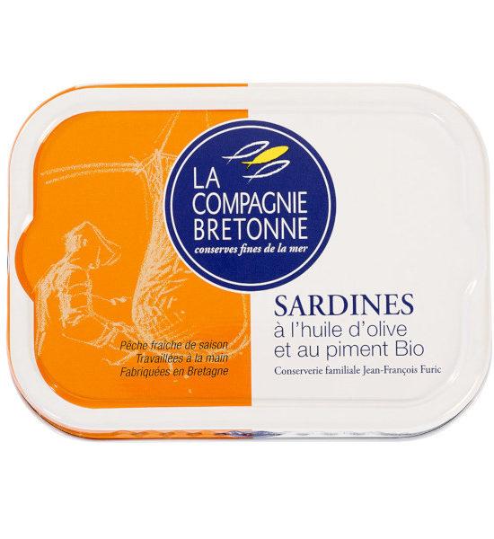 Sardines huile olive et piment oiseau